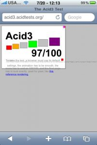 iPhone acid score using the Safari provided in the 3.0 firmware.