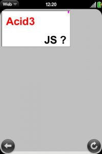Pre's acid score using webOS 1.1
