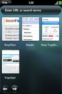 webOS' browser bookmarks