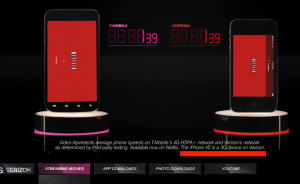 T-Mobile comparing Galaxy S3, on a 4G connection, to Verizon iPhone, a 3G device.