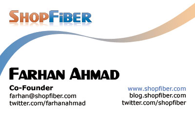 My ShopFiber business card :)