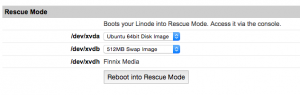 Booting into rescue mode