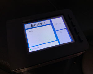 Raspberry Pi showing the Entriway app homepage